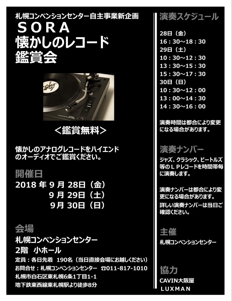 懐かしのレコード鑑賞会2018