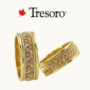 トレソロ 3カラーゴールドクロセット ロゴ入り